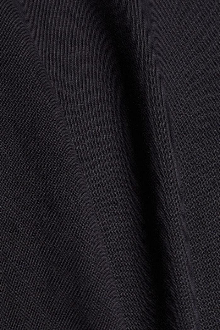 Felpa cropped con cotone biologico, BLACK, detail image number 4