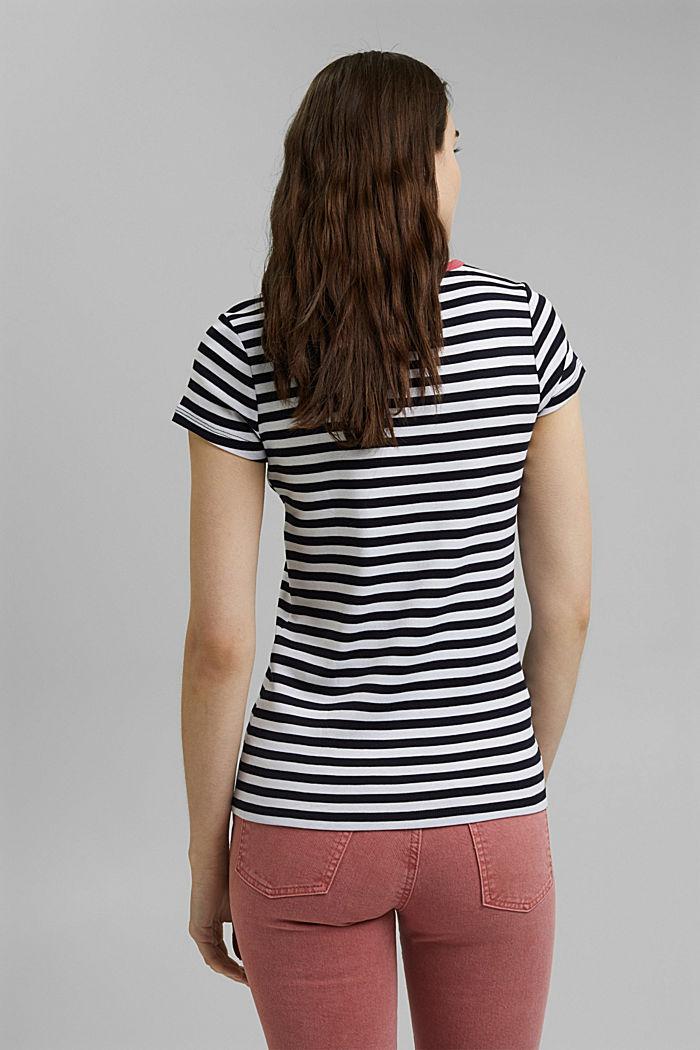 Striped T-shirt, 100% organic cotton, NAVY, detail image number 3