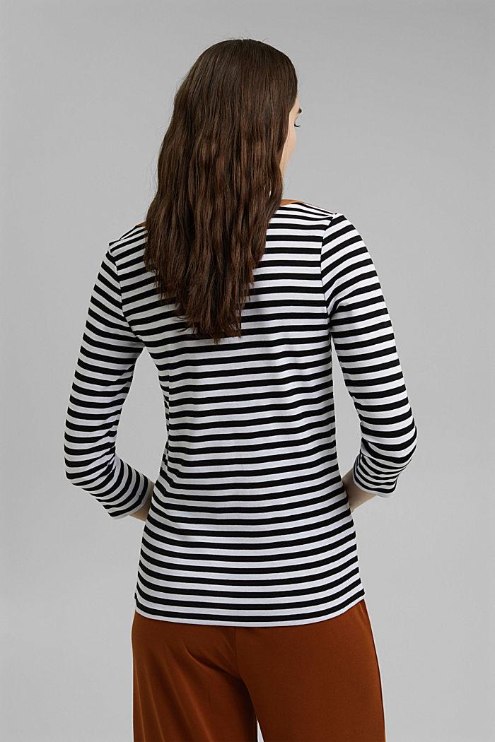 T-shirt à manches longues et encolure bateau, BLACK, detail image number 3