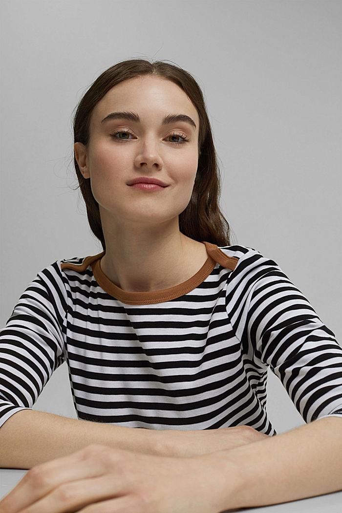 T-shirt à manches longues et encolure bateau, BLACK, detail image number 5