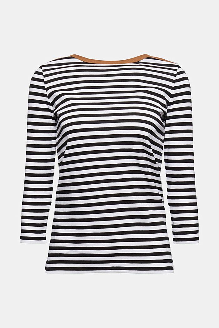 Camiseta de manga larga con cuello barco