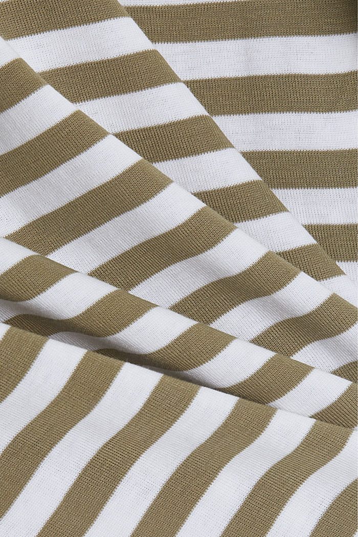 Long sleeve top with a bateau neckline, LIGHT KHAKI, detail image number 4