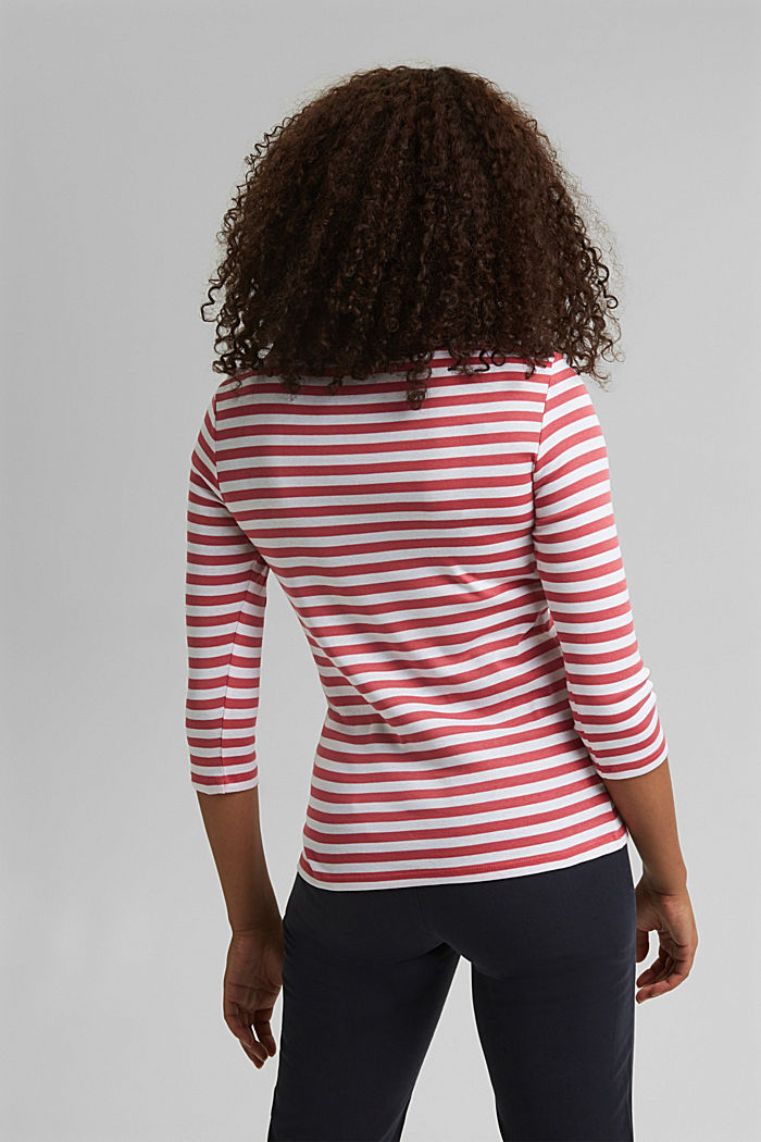 Long sleeve top with a bateau neckline, BLUSH, detail image number 3