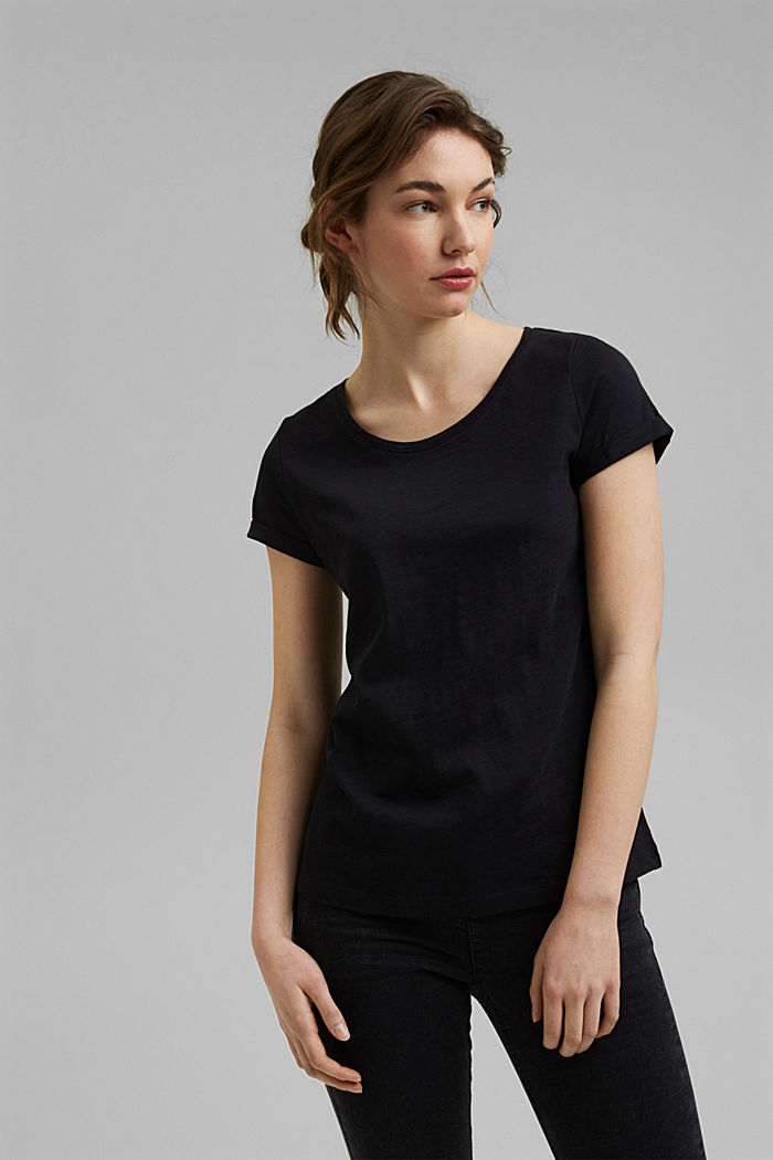 T-Shirt aus 100% Organic Cotton, BLACK, overview
