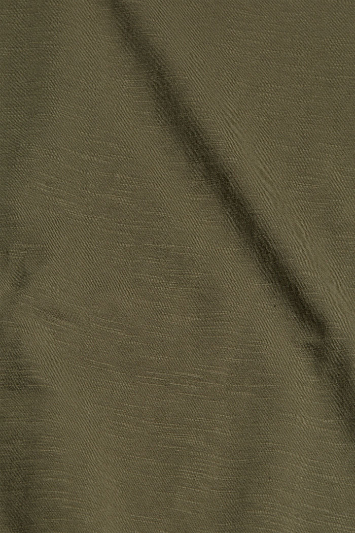 T-shirt 100 % coton biologique, DARK KHAKI, detail image number 4