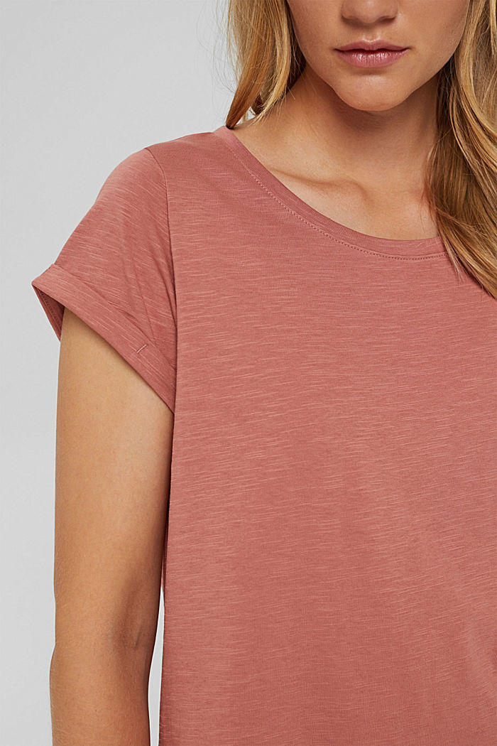 T-shirt made of 100% organic cotton, CORAL, detail image number 2