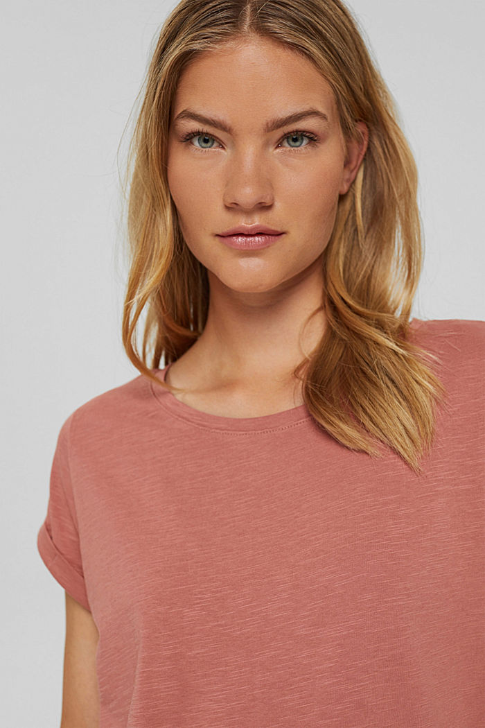 T-shirt made of 100% organic cotton, CORAL, detail image number 5