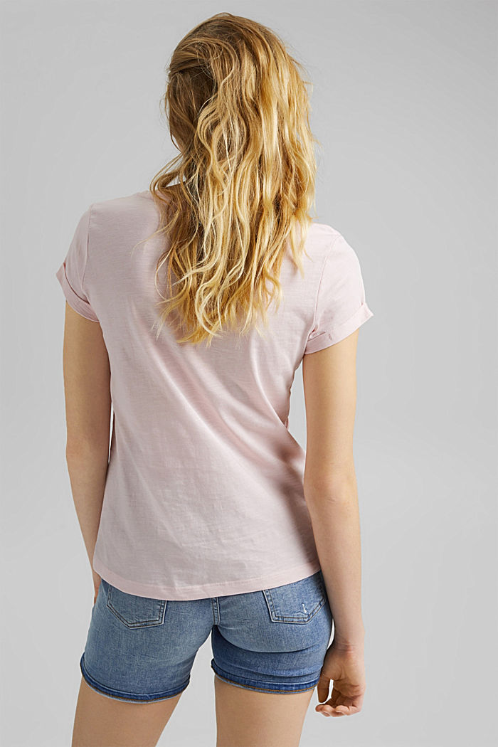 T-shirt made of 100% organic cotton, LIGHT PINK, detail image number 3