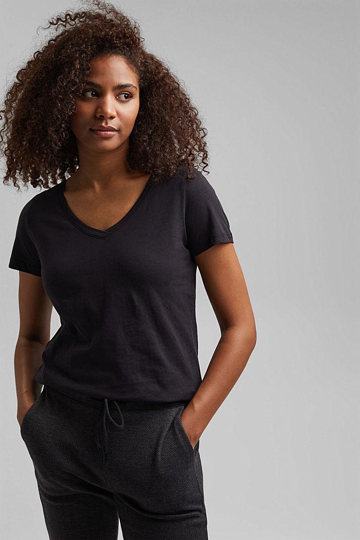 V-Neck-Shirt aus 100% Bio-Baumwolle