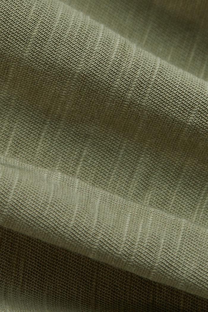 V-neck T-shirt in 100% organic cotton, LIGHT KHAKI, detail image number 3