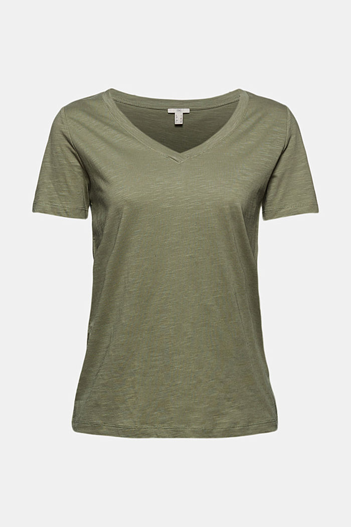 T-shirt à encolure en V, 100% coton biologique