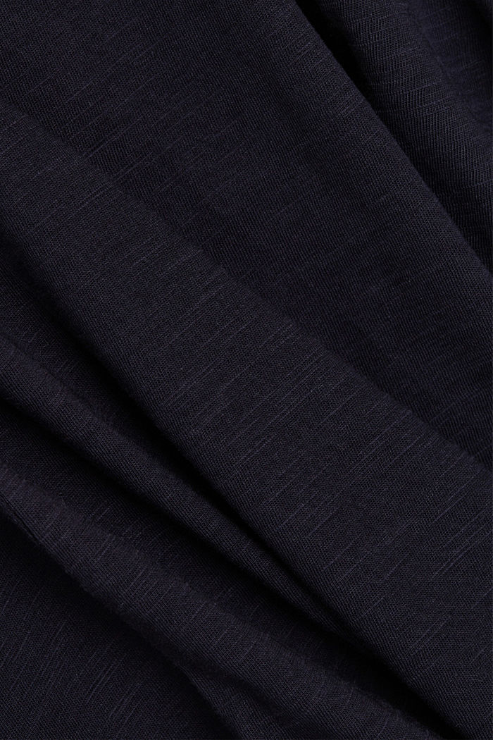 V-Neck-Shirt aus 100% Bio-Baumwolle, NAVY, detail image number 4