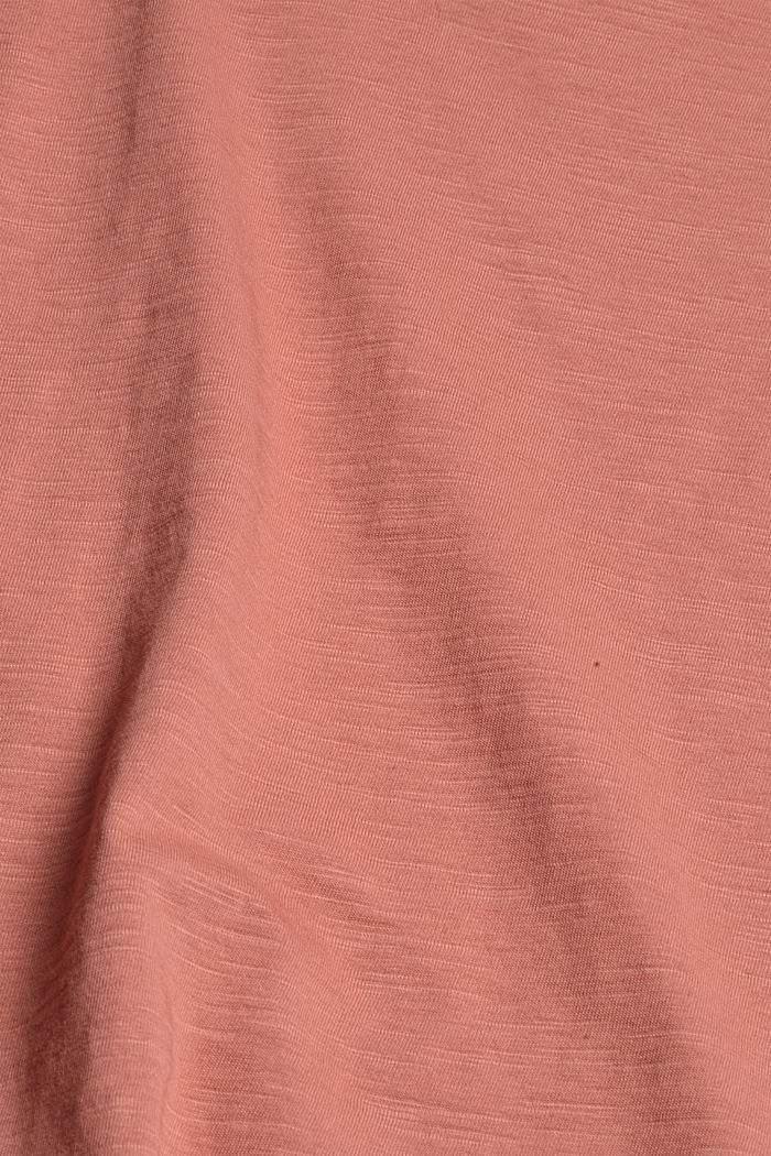 V-neck T-shirt in 100% organic cotton, CORAL, detail image number 4