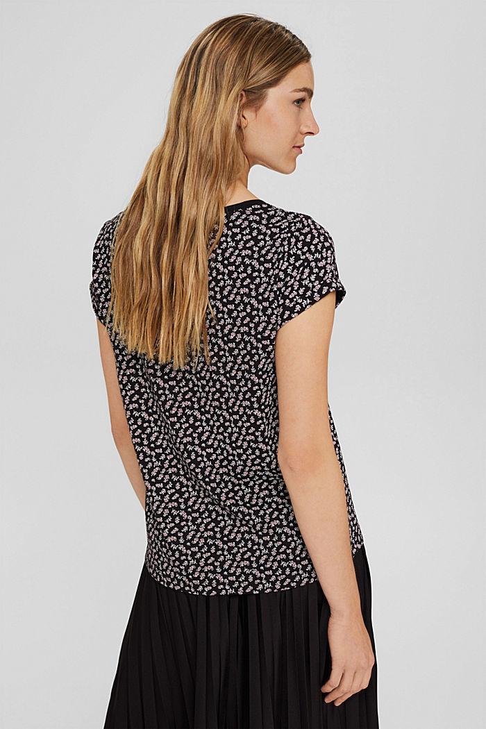 T-shirt à imprimé, 100% coton biologique, NEW BLACK, detail image number 3