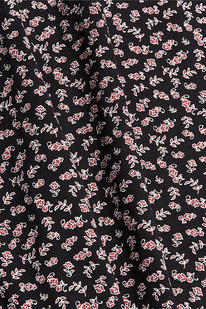 T-shirt à imprimé, 100% coton biologique, NEW BLACK, detail image number 4