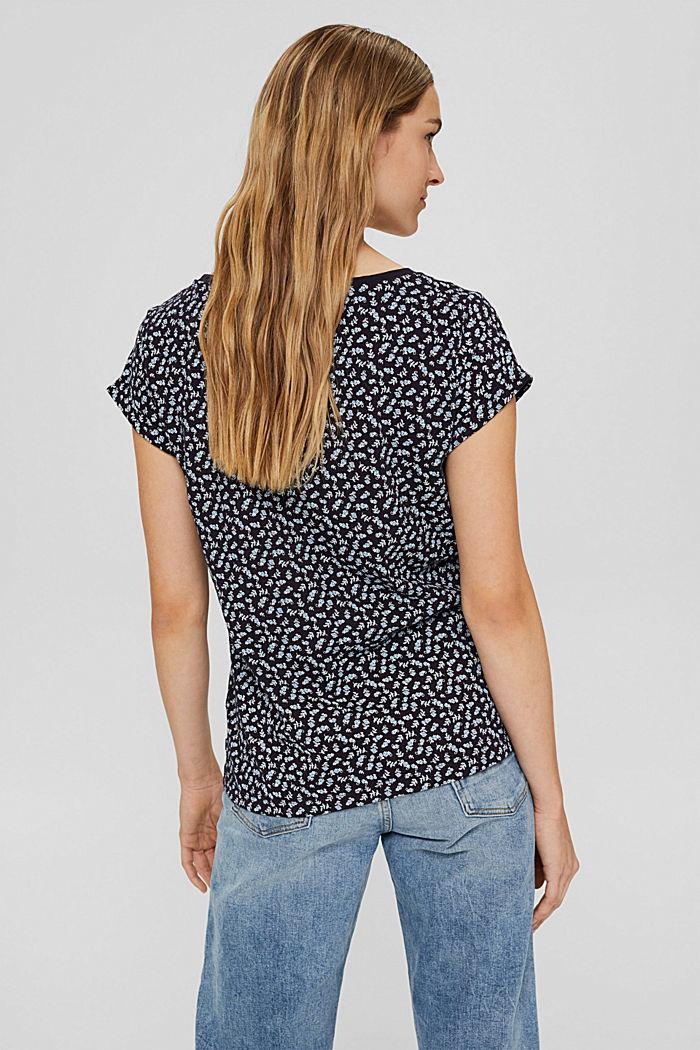 T-Shirt mit Print aus 100% Organic Cotton, NAVY, detail image number 3