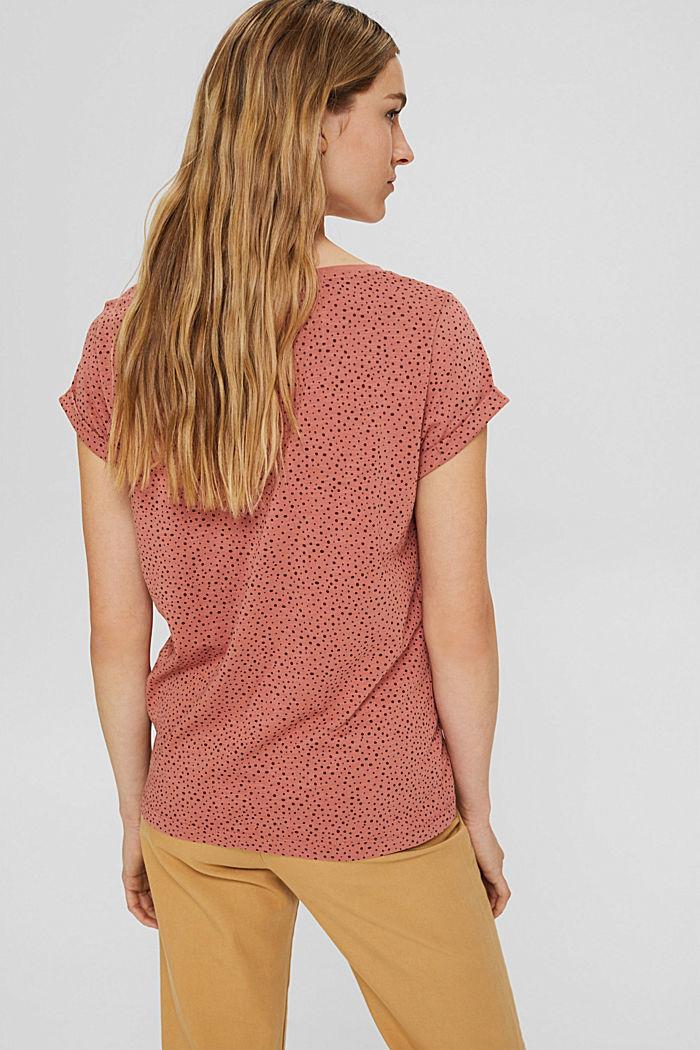 T-Shirt mit Print aus 100% Organic Cotton, CORAL, detail image number 3