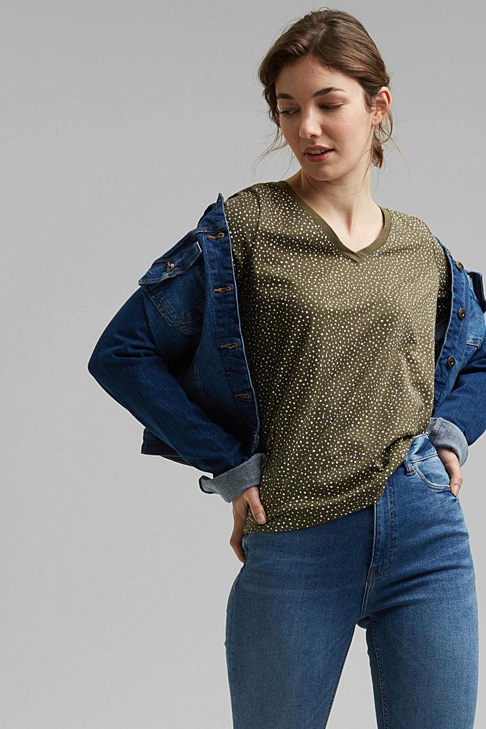 T-shirt made of 100% organic cotton, KHAKI GREEN, detail image number 5