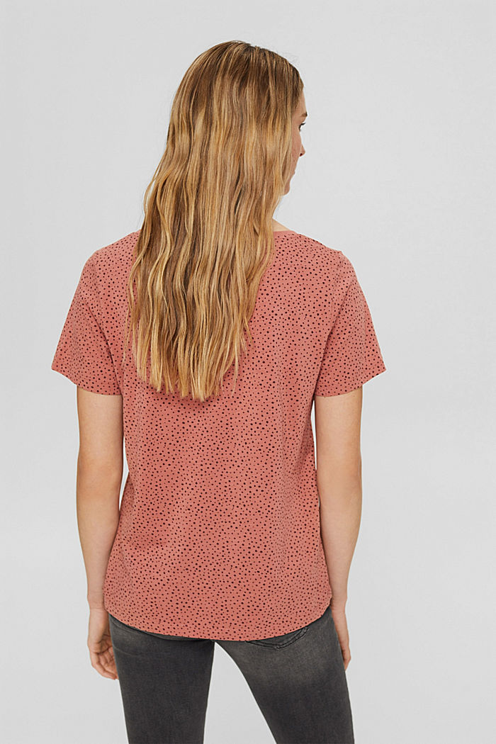 T-shirt made of 100% organic cotton, CORAL, detail image number 3