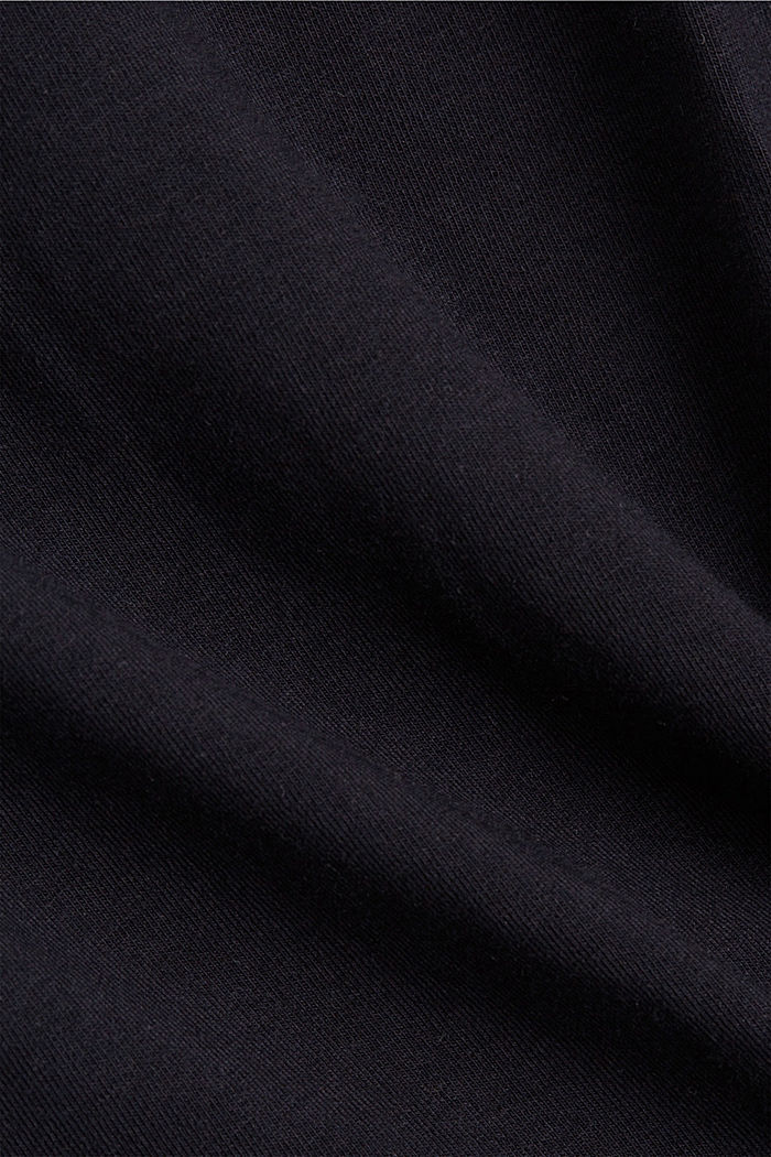 Top stretch in cotone biologico, BLACK, detail image number 4