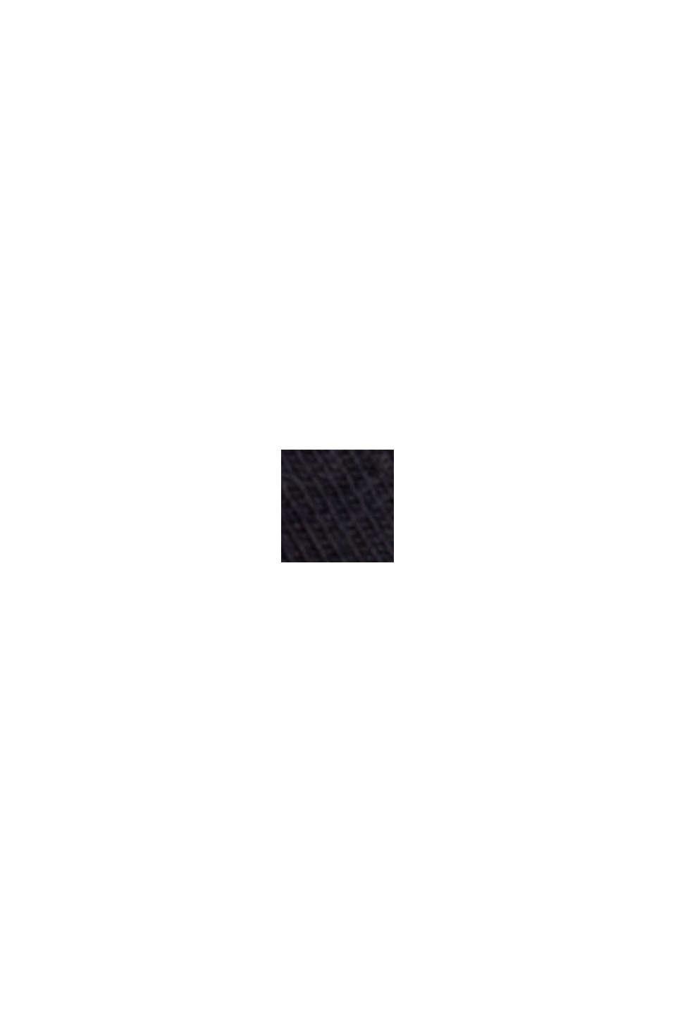 Stretchtop van biologisch katoen, BLACK, swatch