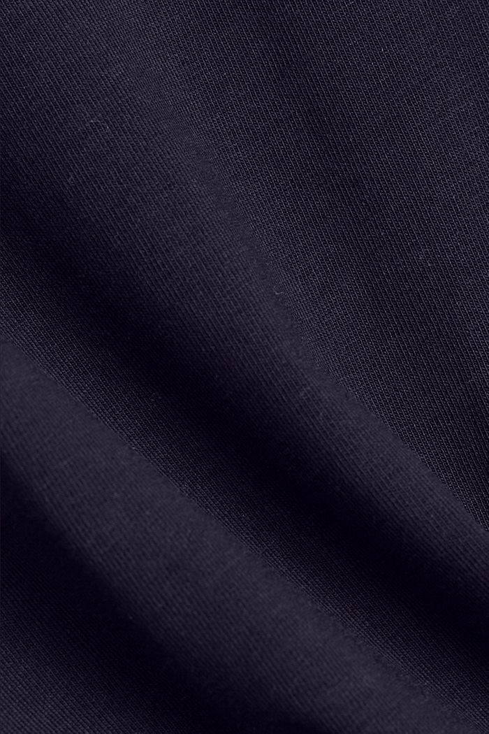 Stretch top made of organic cotton, NAVY, detail image number 4