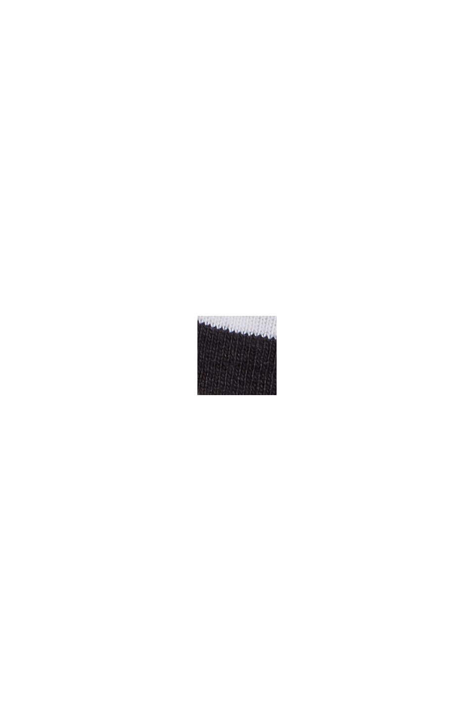 Streifen Stehkragen-Shirt, 100% Bio-Baumwolle, BLACK, swatch