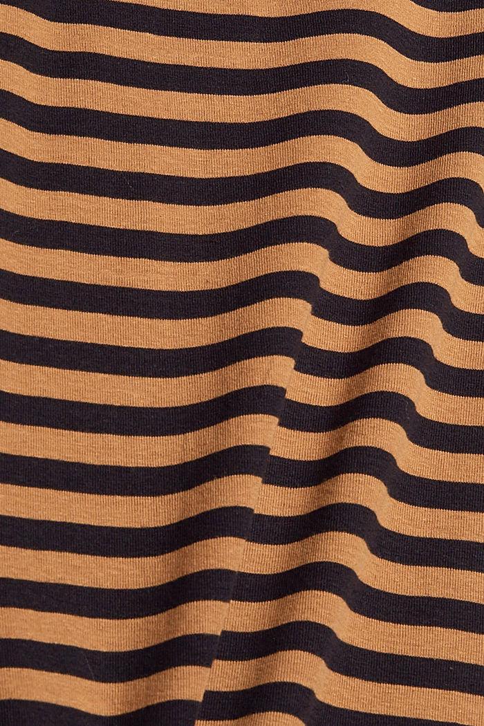 Maglia a righe con collo a listino, 100% biologico cotone, BARK, detail image number 4