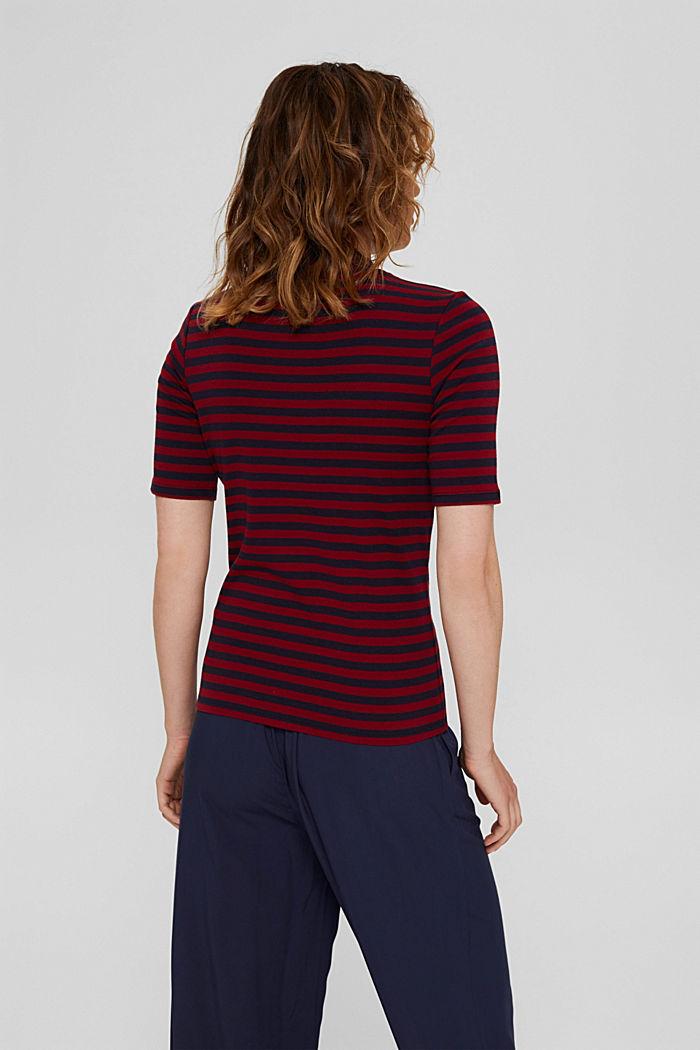 Streifen Stehkragen-Shirt, 100% Bio-Baumwolle, NAVY, detail image number 3