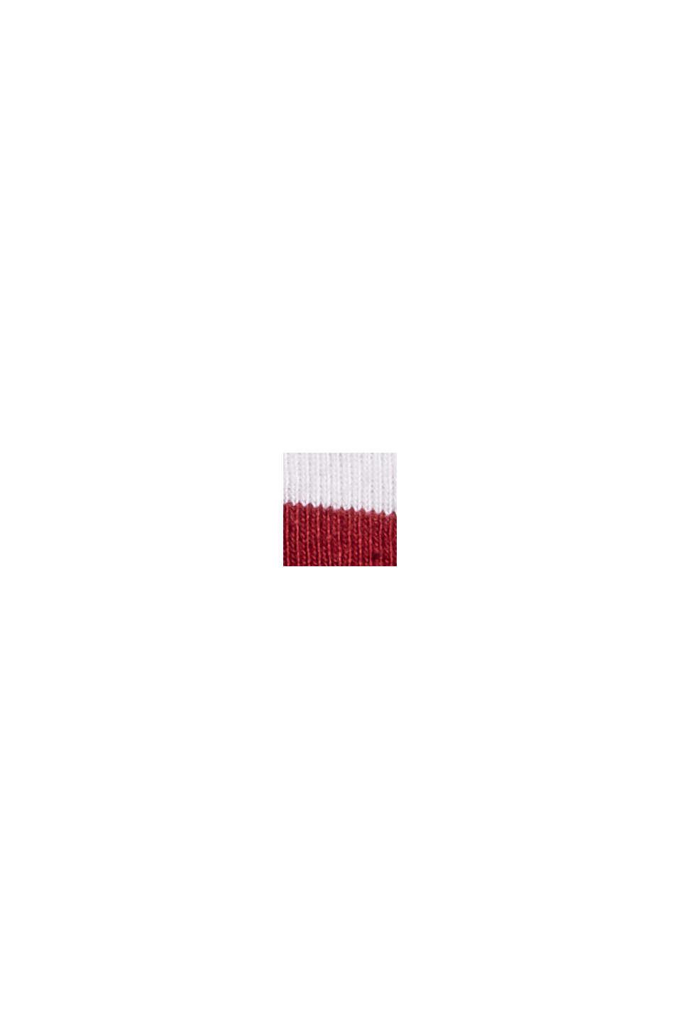 Streifen Stehkragen-Shirt, 100% Bio-Baumwolle, DARK RED, swatch