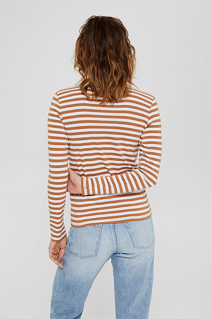 Camiseta de manga larga a rayas, 100 % algodón ecológico, BARK, detail image number 3