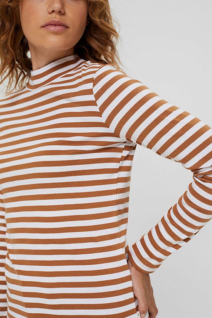 Camiseta de manga larga a rayas, 100 % algodón ecológico, BARK, detail image number 2