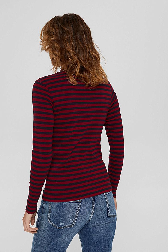Camiseta de manga larga a rayas, 100 % algodón ecológico, NAVY, detail image number 3