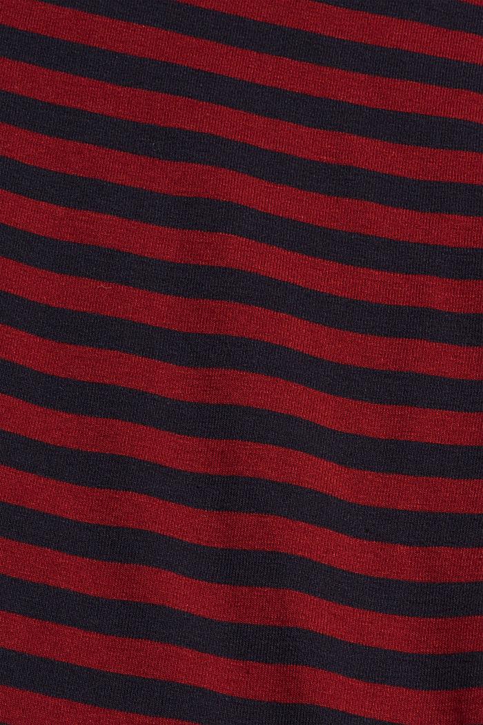 Camiseta de manga larga a rayas, 100 % algodón ecológico, NAVY, detail image number 4