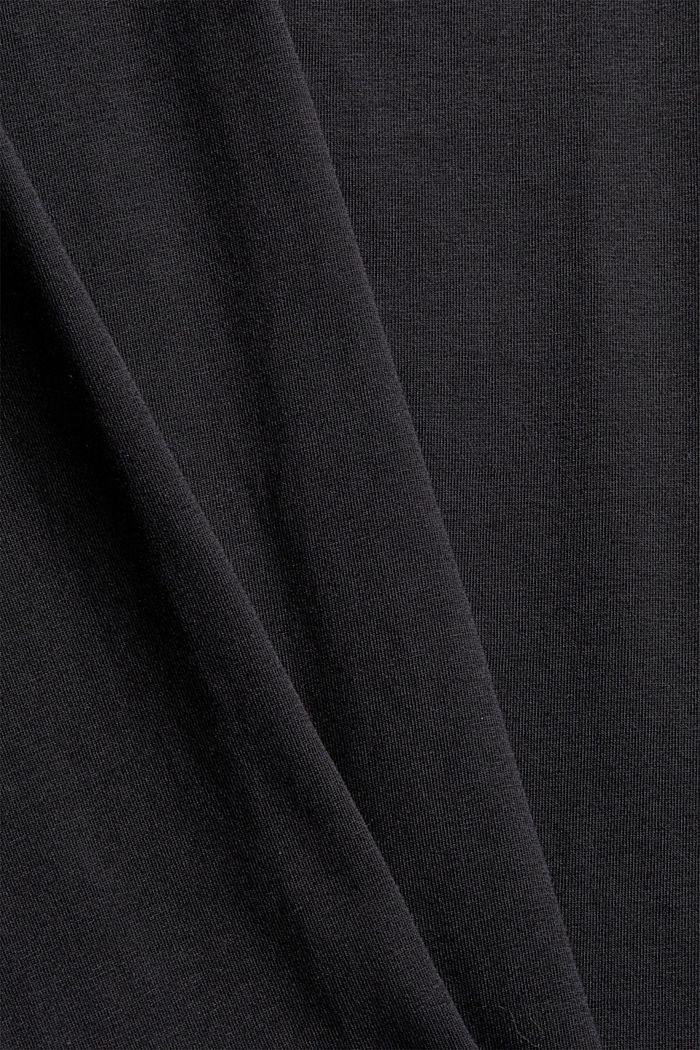 T-shirt con collo dolcevita, cotone biologico, BLACK, detail image number 4