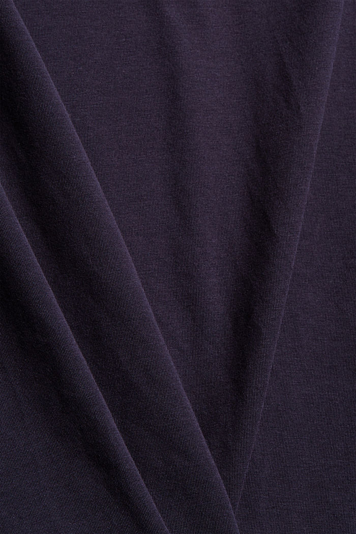 T-shirt con collo dolcevita, cotone biologico, NAVY, detail image number 4
