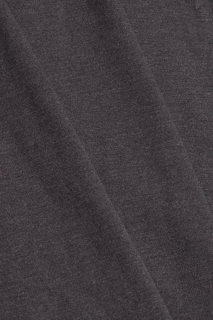 Bluzka z długim rękawem i okrągłym dekoltem z mieszanki bawełny ekologicznej, ANTHRACITE, detail image number 4
