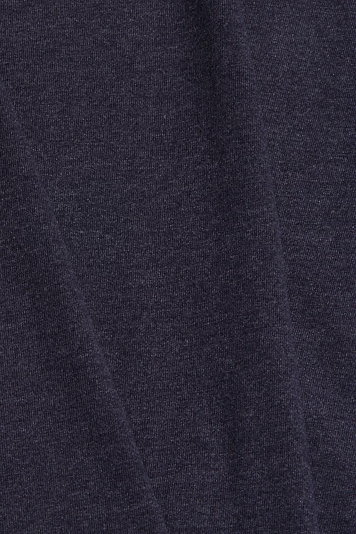 Maglia a maniche lunghe girocollo in misto cotone biologico, NAVY, detail image number 4
