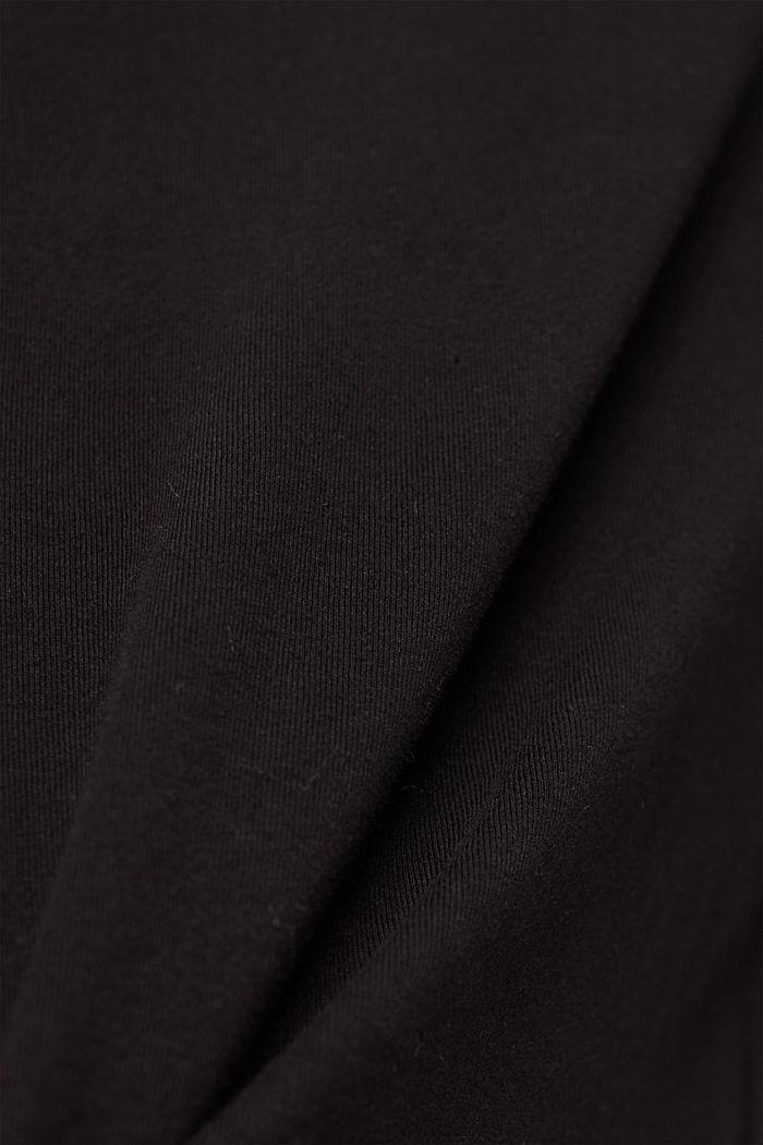 Maglia a maniche lunghe in cotone biologico con pizzo, BLACK, detail image number 4