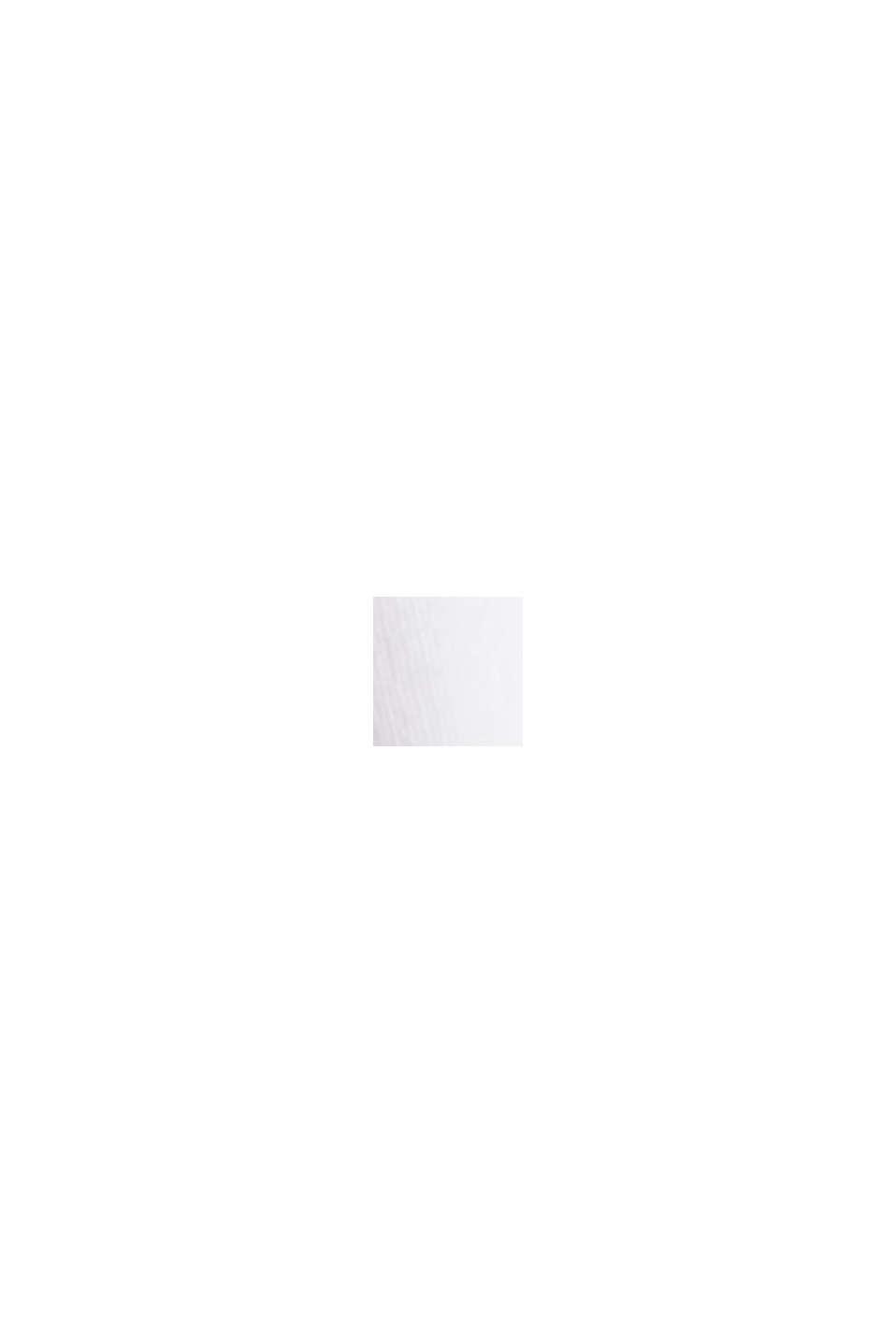 Langærmet top af økologisk bomuld med blonder, WHITE, swatch