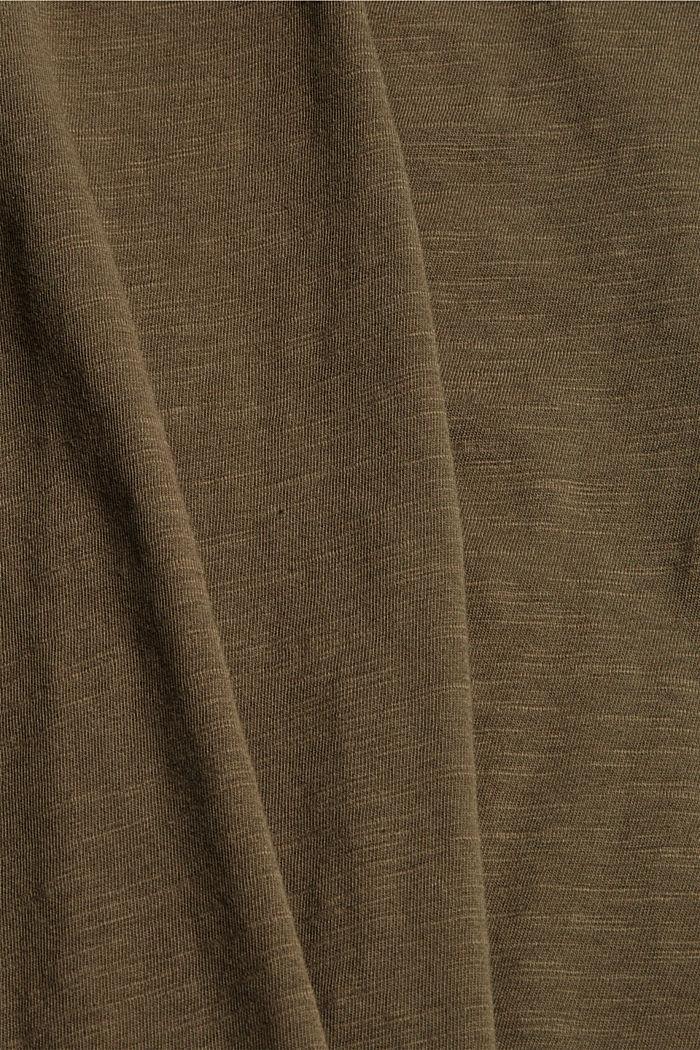 Maglia a maniche lunghe in 100% cotone biologico, DARK KHAKI, detail image number 4