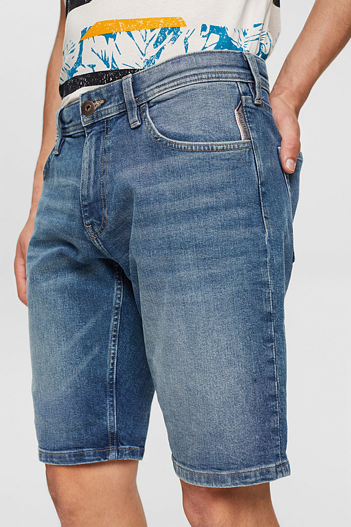 Jeans Shorts aus Organic Cotton, BLUE MEDIUM WASHED, detail image number 2