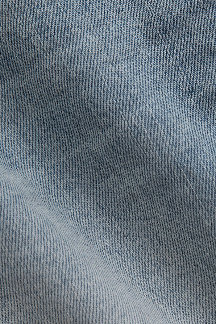 Jeans Shorts aus Organic Cotton, BLUE LIGHT WASHED, detail image number 4