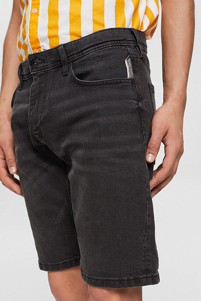 Jeans Shorts aus Organic Cotton, BLACK DARK WASHED, detail image number 2