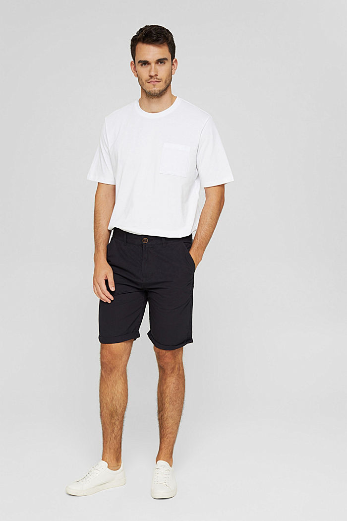 Shorts aus Organic Cotton, ANTHRACITE, detail image number 1