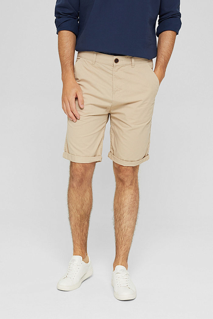 Shorts in organic cotton, LIGHT BEIGE, detail image number 0