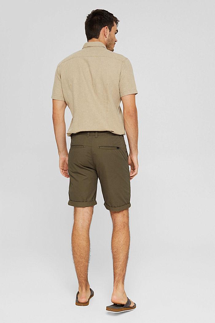 Shorts in organic cotton, DARK KHAKI, detail image number 3