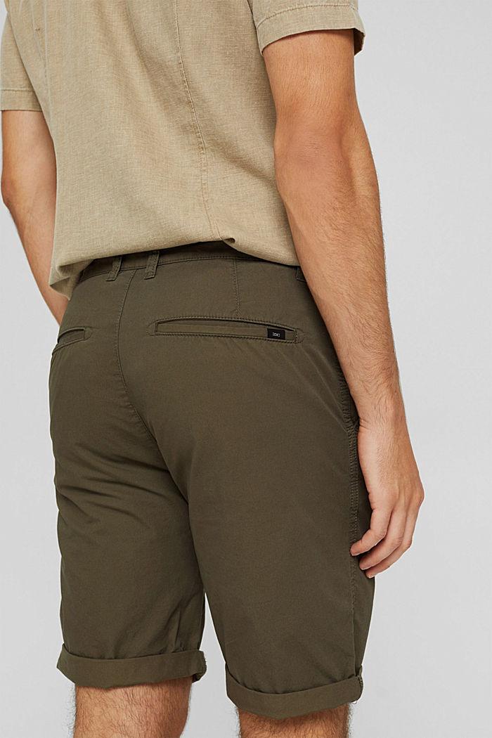 Shorts in organic cotton, DARK KHAKI, detail image number 2