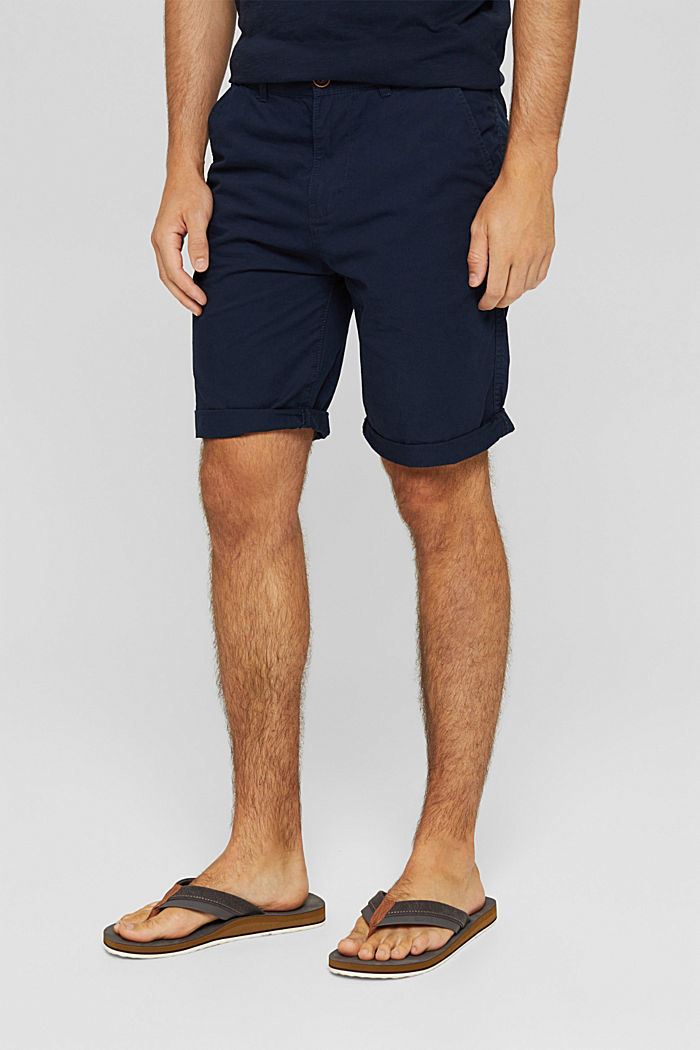 Shorts in organic cotton, NAVY, detail image number 0