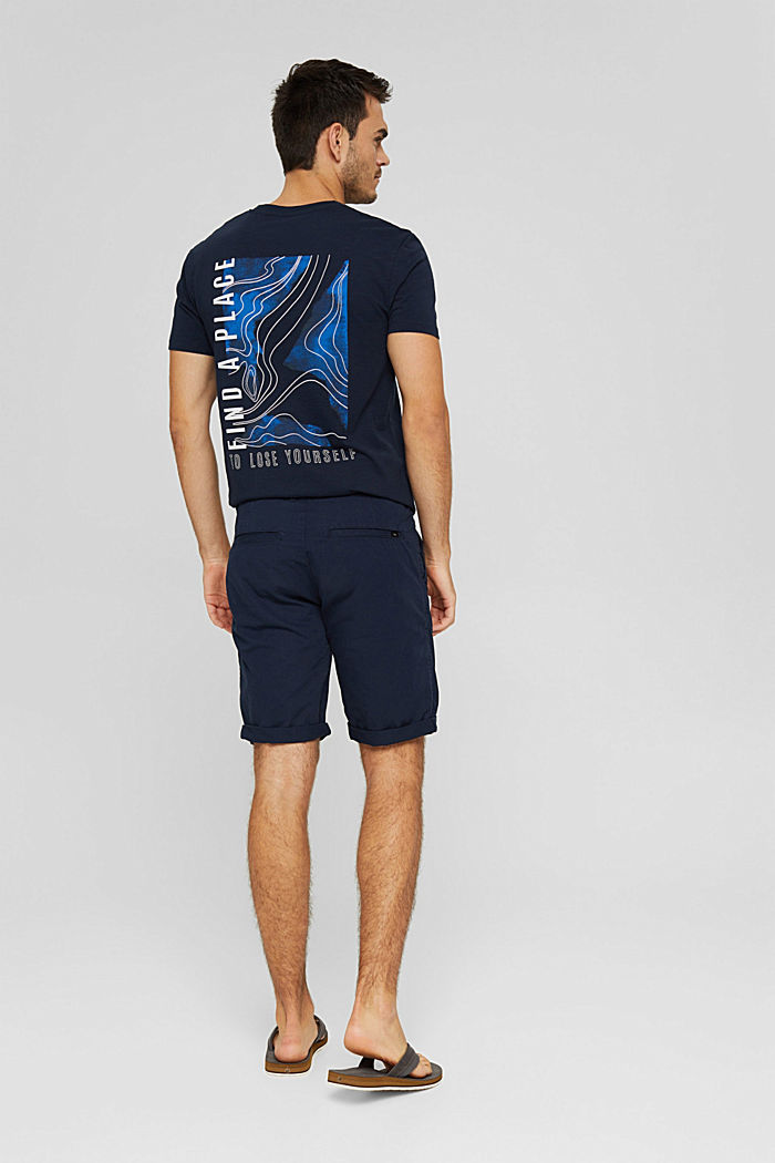 Shorts in cotone biologico, NAVY, detail image number 3